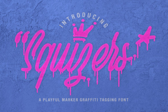 Squizers Display Font By semuthitam