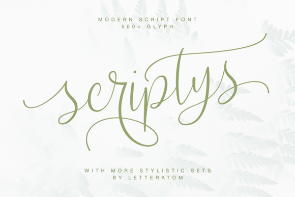 Print on Demand: Scriptys Script & Handwritten Font By Letteratom
