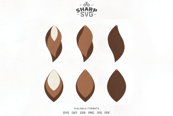 Download Free Stacked Earrings Leather Earrings Graphic By Sharpsvg Creative for Cricut Explore, Silhouette and other cutting machines.