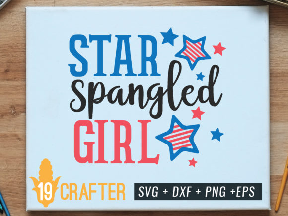 Print on Demand: Star Spangled Girl Graphic Crafts By great19