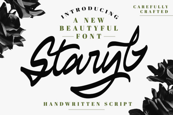Print on Demand: Staryl Script & Handwritten Font By Vunira