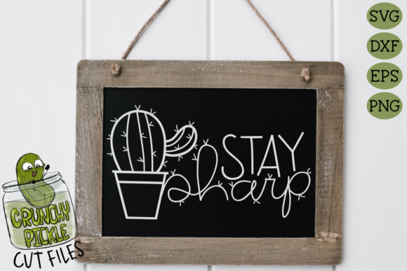 Stay Sharp Cactus SVG Cut File - a Posit Gráfico Crafts Por Crunchy Pickle