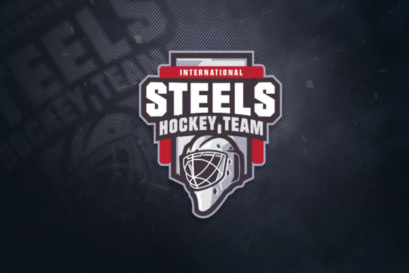 Print on Demand: Steel Hockey Sports Logo Graphic Logos By ovoz.graphics