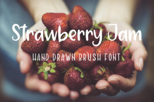 Strawberry Jam Font By Sentimental Postman