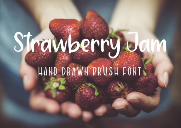 Print on Demand: Strawberry Jam Script & Handwritten Font By Sentimental Postman