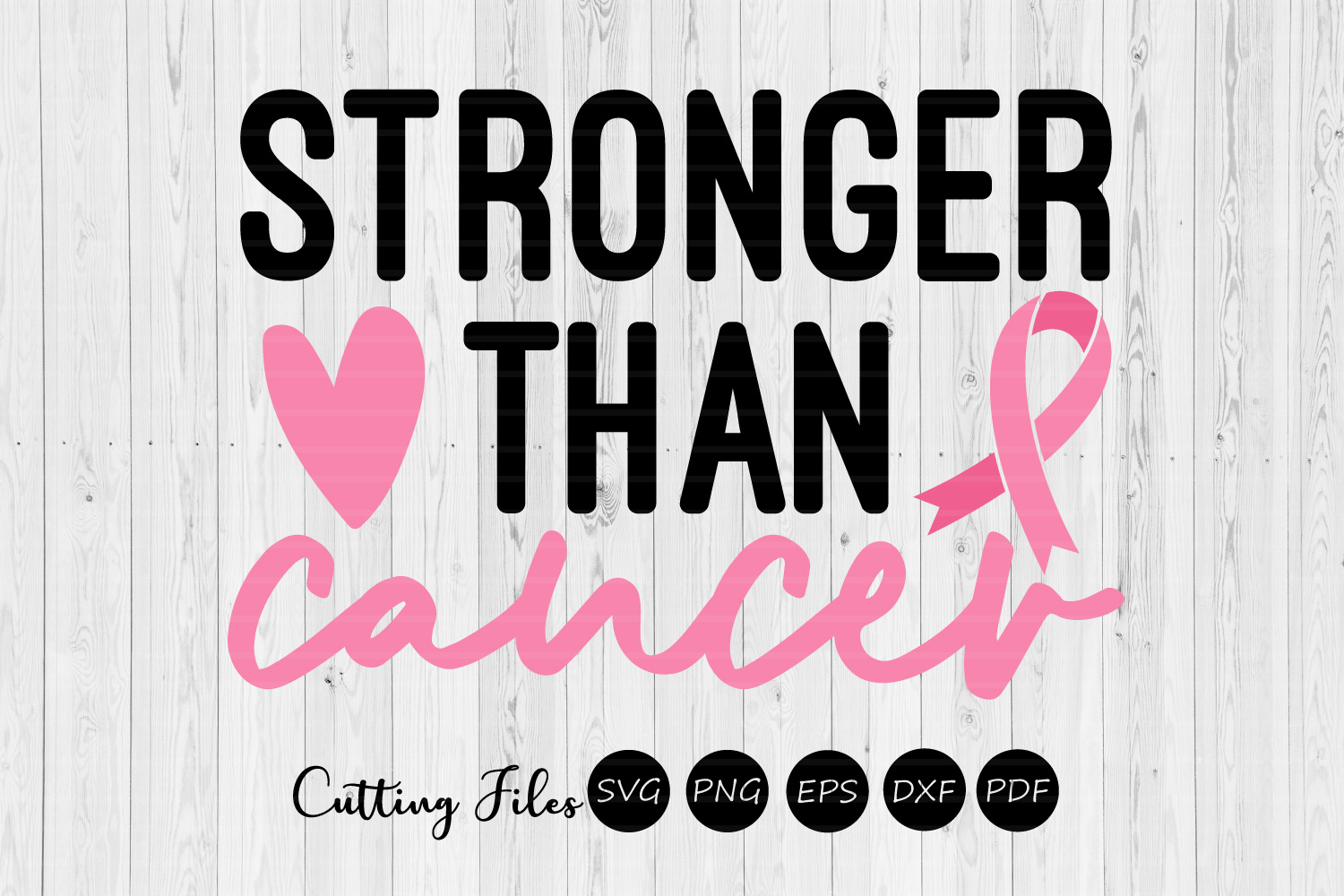 Download Free Stronger Than Cancer Svg Graphic By Hd Art Workshop Creative Fabrica for Cricut Explore, Silhouette and other cutting machines.
