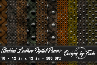 Studded Leather Digital Papers Graphic By Heidi Vargas-Smith