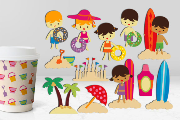 Print on Demand: Summer Beach Kids Graphic Illustrations By Revidevi