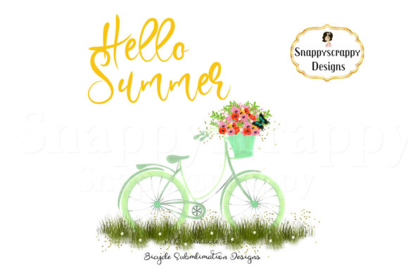 Summer Bicycle Sublimations Graphic By Snappyscrappy Image 2