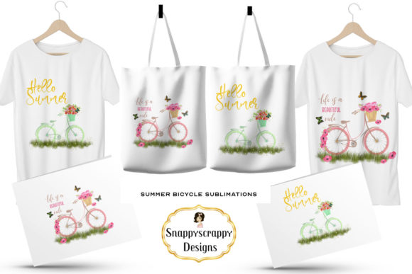 Summer Bicycle Sublimations Graphic By Snappyscrappy Image 4