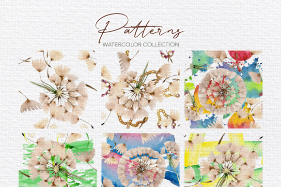 Summer Dandelion Collection Watercolor Graphic By MyStocks Image 2