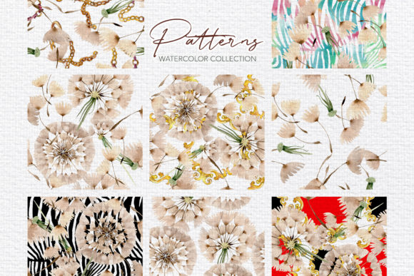 Summer Dandelion Collection Watercolor Graphic By MyStocks Image 3