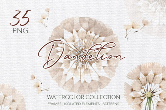 Print on Demand: Summer Dandelion Collection Watercolor Graphic Illustrations By MyStocks