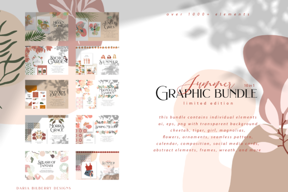 Summer Graphic Bundle Graphic Illustrations By BilberryCreate
