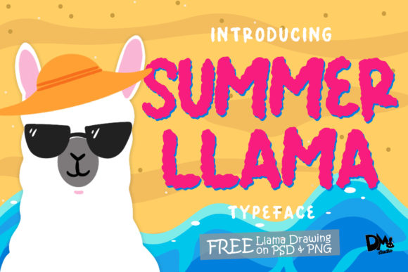 Print on Demand: Summer Llama Display Font By dmletter31