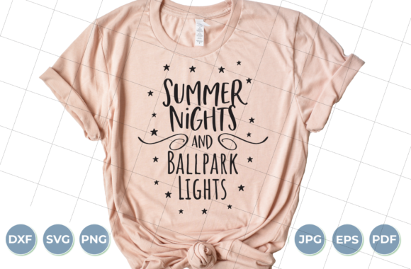 Summer Nights and Ballpark Lights SVG Graphic Crafts By luxedesignartetsy