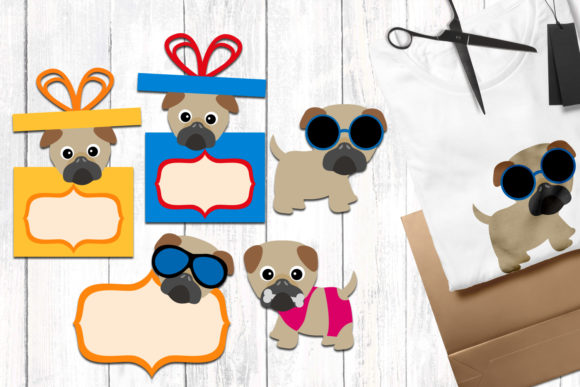 Print on Demand: Summer Pug Dog Graphic Illustrations By Revidevi