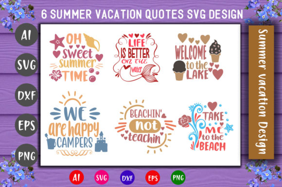Print on Demand: Summer Quotes Bundle Graphic Crafts By CreativeArt