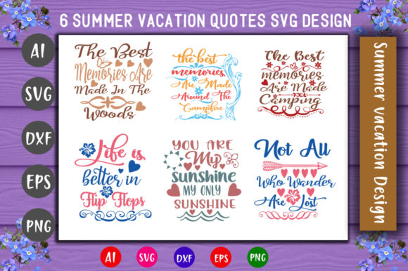 Print on Demand: Summer Vacation Bundle Graphic Crafts By CreativeArt