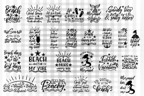 Summer Beach Bundle Graphic Crafts By Illustrator Guru