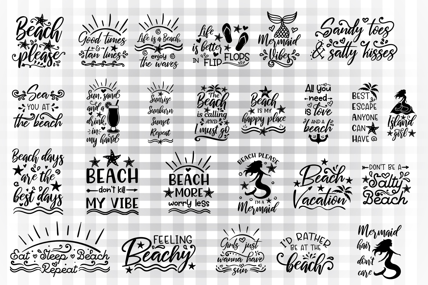 Download Free Summer Beach Bundle Graphic By Illustrator Guru Creative Fabrica for Cricut Explore, Silhouette and other cutting machines.