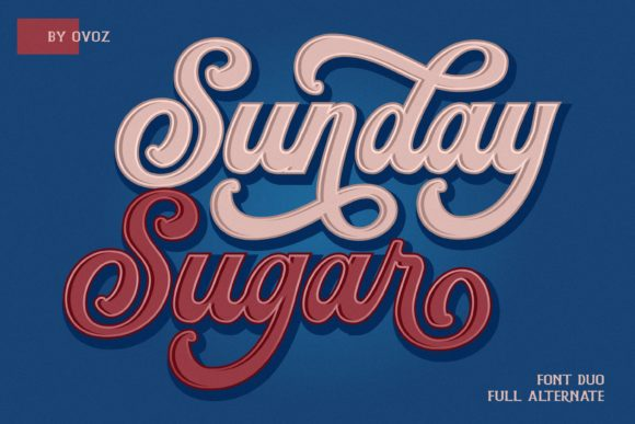 Print on Demand: Sunday Sugar Script Script & Handwritten Font By ovoz.graphics