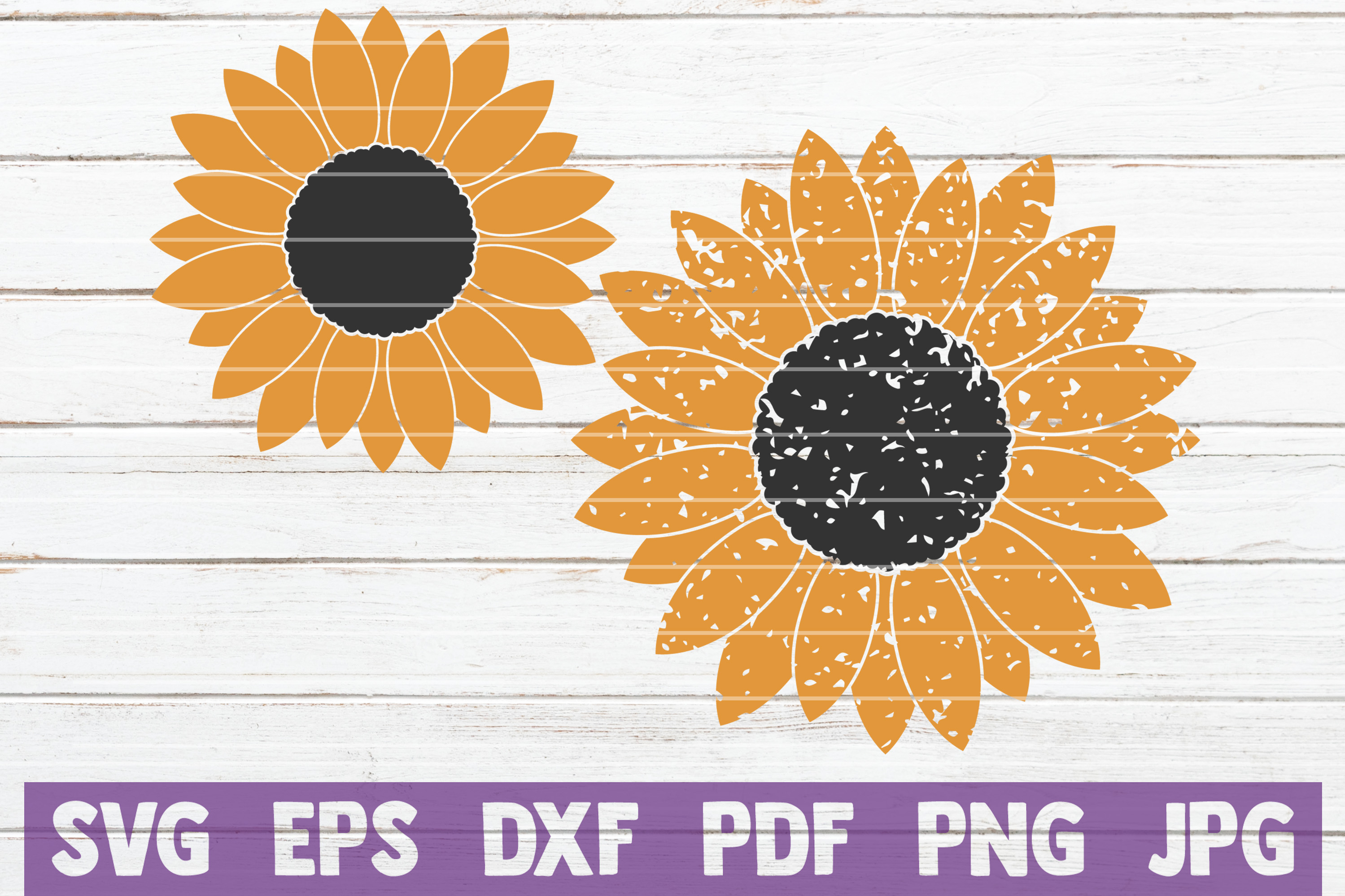 Download Free Sunflower Cut Files Graphic By Mintymarshmallows Creative Fabrica for Cricut Explore, Silhouette and other cutting machines.