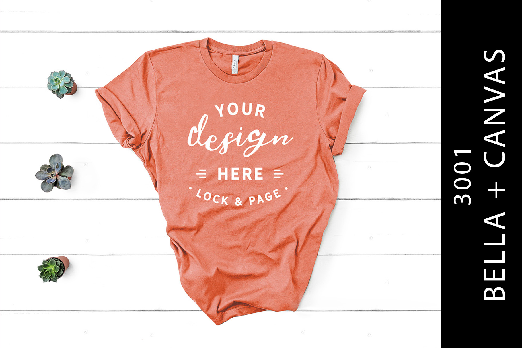 Download Free Sunset Bella Canvas 3001 T Shirt Mockup Graphic By Lockandpage for Cricut Explore, Silhouette and other cutting machines.