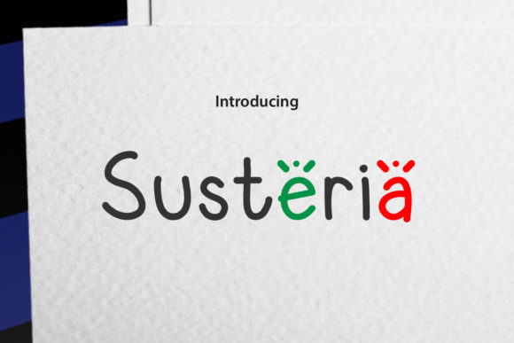 Print on Demand: Susteria Script & Handwritten Font By da_only_aan - Image 1