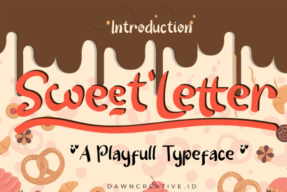Print on Demand: Sweet Letter Display Font By Dawn Studio