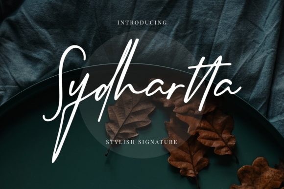 Print on Demand: Sydhartta Script & Handwritten Font By CreatypeStudio
