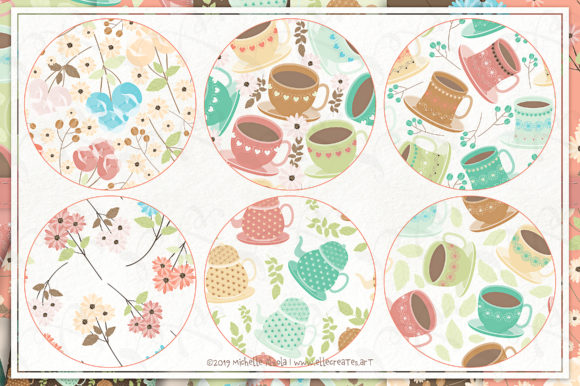 Print on Demand: Tea Party 01 - Seamless Patterns Graphic Patterns By Michelle Alzola - Image 3