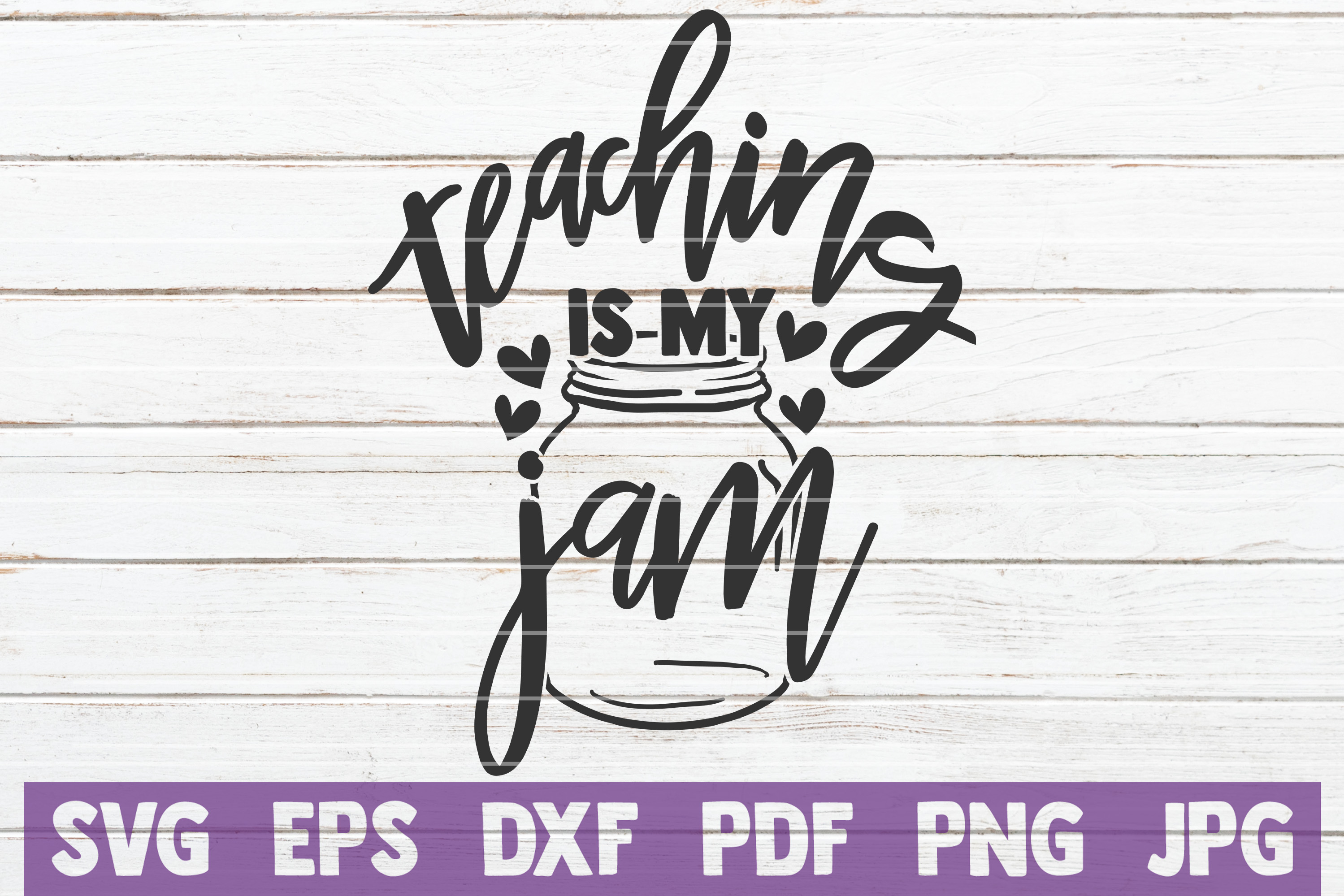 Download Free Teaching Is My Jam Svg Cut File Graphic By Mintymarshmallows for Cricut Explore, Silhouette and other cutting machines.