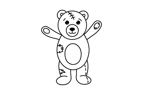 Download Free Teddy Bear With Patches And Poor Stitching Svg Cut File By for Cricut Explore, Silhouette and other cutting machines.