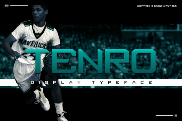 Print on Demand: Tenro Display Font By ovoz.graphics