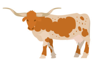 Texas Longhorn Cow Craft Design By Creative Fabrica Crafts