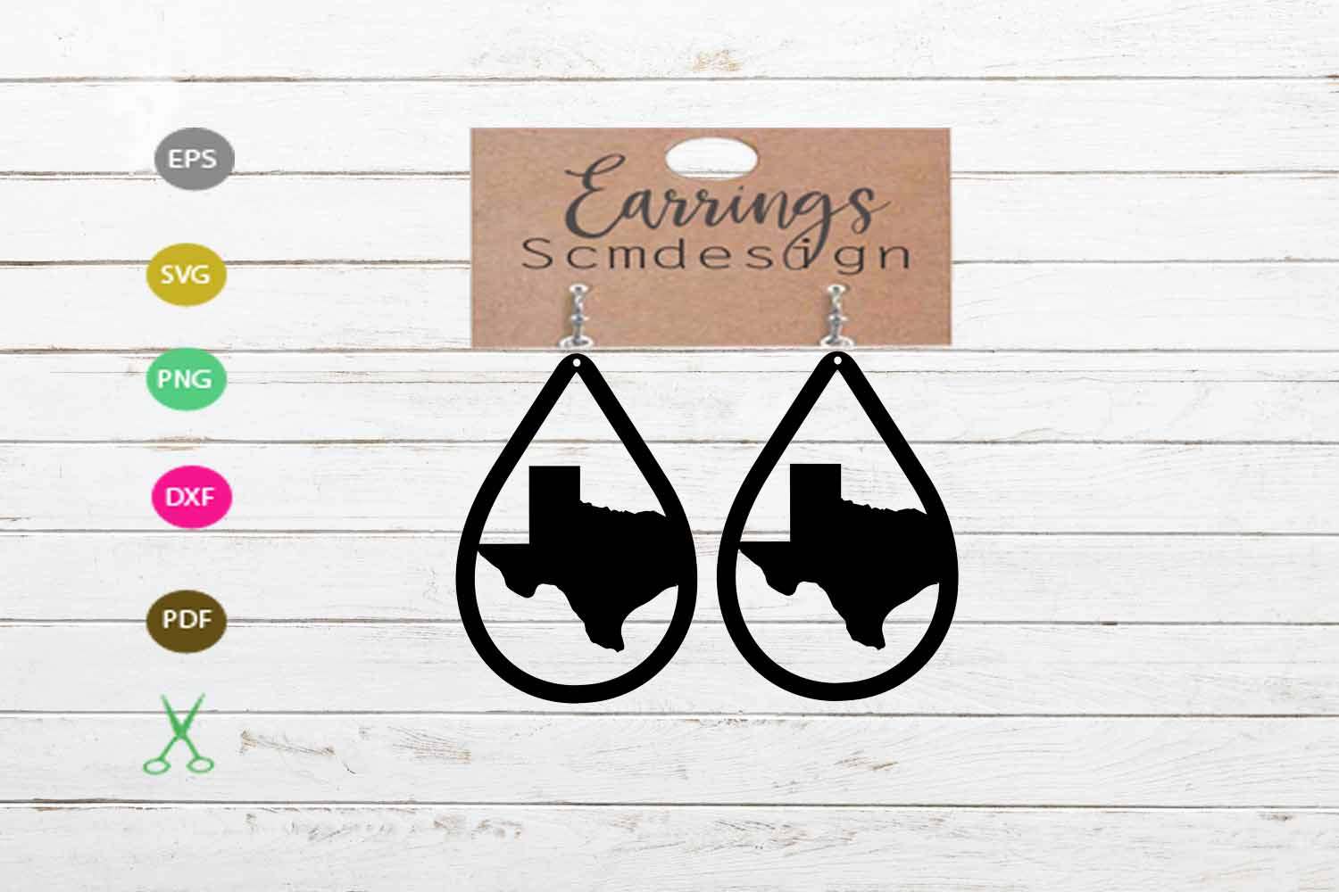 Download Free Texas Earrings Graphic By Scmdesign Creative Fabrica SVG Cut Files