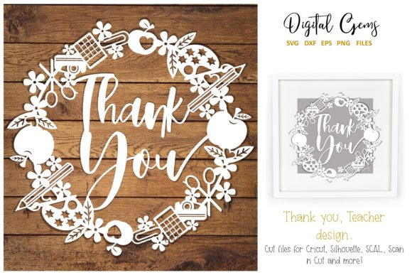 Thank You Teacher Design Graphic By Digital Gems Creative Fabrica
