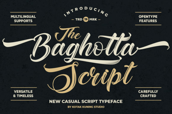 Print on Demand: Baghotta Script & Handwritten Font By Kotak Kuning Studio - Image 1