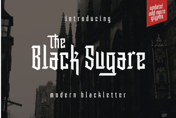 Print on Demand: The Black Sugare Blackletter Font By Arterfak Project
