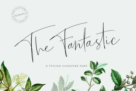 Print on Demand: The Fantastic Script & Handwritten Font By Sulthan Studio