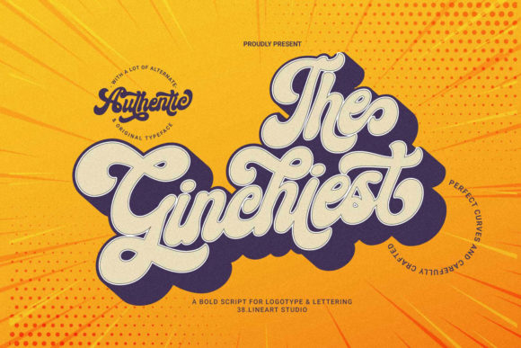 Print on Demand: The Ginchiest Script & Handwritten Font By 38.lineart - Image 1