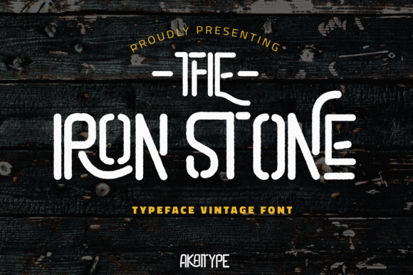 Print on Demand: The Iron Stone Display Font By Akaitype Studio