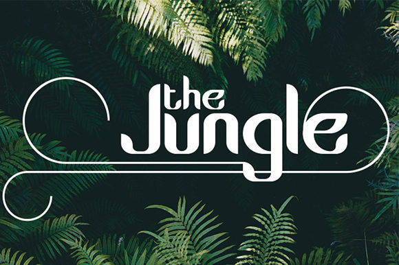 Print on Demand: The Jungle Display Font By Black Lotus