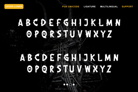 Print on Demand: The Moshbusther Blackletter Font By Nartztype - Image 3