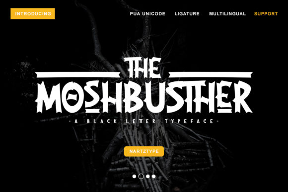 The Moshbusther Blackletter Font By Nartztype