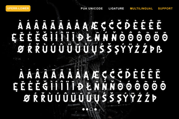 Print on Demand: The Moshbusther Blackletter Font By Nartztype - Image 7