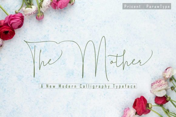 Print on Demand: The Mother Script & Handwritten Font By parawtype
