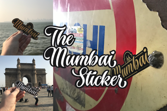 Print on Demand: The Mumbai Sticker Script & Handwritten Font By Roland Hüse Design