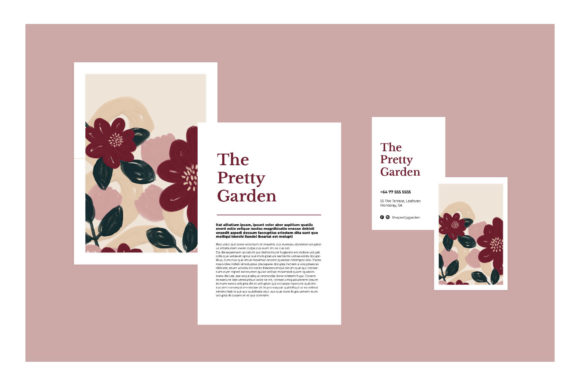 The Pretty Garden Seamless Pattern Set Graphic Patterns By Bron Alexander - Image 3